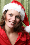 Christmas brunette Royalty Free Stock Photo