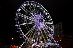 Christmas in Brussels. Wheel while Christmas in Brussels, Belgium Stock Photos
