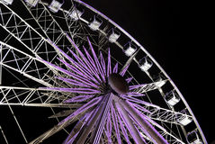 Christmas in Brussels. Wheel while Christmas in Brussels, Belgium Royalty Free Stock Images