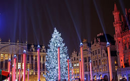 Christmas in Brussels (Belgium) Royalty Free Stock Image