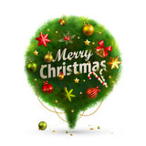 Christmas Bubble for speech. Fir tree. Vector illustration Stock Photos