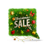 Christmas Bubble for speech. Fir tree. Vector illustration Stock Images