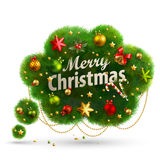 Christmas Bubble for speech. Fir tree. Vector illustration Royalty Free Stock Images
