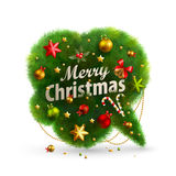 Christmas Bubble for speech. Fir tree. Vector illustration Royalty Free Stock Photography