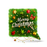Christmas Bubble for speech. Fir tree. Vector illustration Stock Image