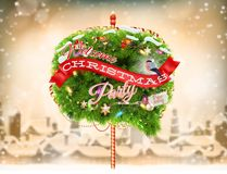 Christmas Bubble for speech - fir tree. EPS 10 Royalty Free Stock Photo