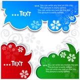 Christmas bubbles for speech Royalty Free Stock Photos