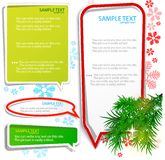 Christmas bubbles for speech. Colorful background vector illustration