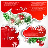 Christmas bubbles for speech Stock Images