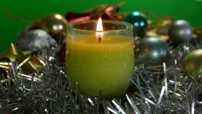 Christmas bucket candle