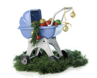 Christmas Buggy Royalty Free Stock Photography