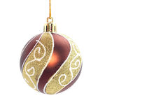 Christmas bulb. Isolated on white Stock Photography