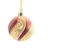 Christmas bulb. Isolated on white Stock Image