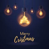 Christmas bulb lights Royalty Free Stock Photos