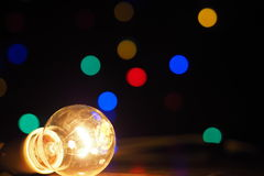 Christmas bulb. Play with light Royalty Free Stock Photography