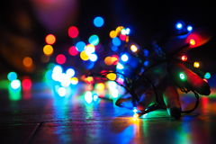 Christmas bulb. Play with light Royalty Free Stock Image