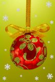 Christmas bulb with snoweflakes Stock Image