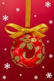 Christmas bulb with snoweflakes. Royalty Free Stock Images