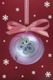 Christmas bulb with snoweflakes Royalty Free Stock Photography