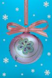 Christmas bulb with snoweflakes Royalty Free Stock Images