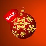 Christmas bulb with snowflakes Royalty Free Stock Images