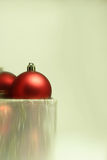 Christmas Bulbs in a Present Box Stock Images
