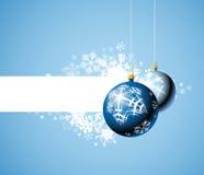 Christmas bulbs & snowflakes Royalty Free Stock Photo