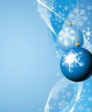 Christmas bulbs & snowflakes Royalty Free Stock Images