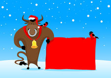 Christmas bull Stock Photography