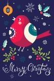 Christmas bullfinch Stock Photography