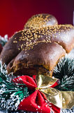 Christmas bun Royalty Free Stock Photo