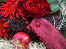 Christmas bunch. Holiday bouquet Stock Photo