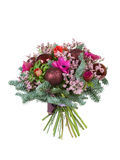 Christmas bunch on white background. Christmas bunch, isolated on white Royalty Free Stock Photos