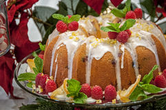 Christmas bundt cake Royalty Free Stock Photos