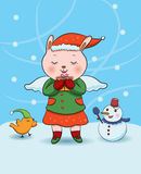 Christmas Bunny Angel Royalty Free Stock Photo