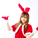 Christmas bunny  girl japanese style. Is a Christmas bunny  girl japanese style Stock Images