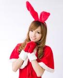 Christmas bunny  girl japanese style Stock Image