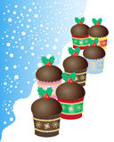Christmas buns Royalty Free Stock Image