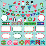 Christmas bunting clipart Stock Image