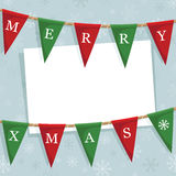 Christmas bunting decoration Royalty Free Stock Image
