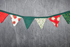 Christmas bunting royalty free stock photography