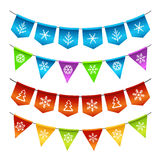 Christmas bunting flags Royalty Free Stock Images