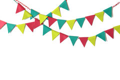 Christmas bunting paper cut Stock Images