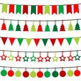 Christmas buntings Stock Image