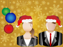 Christmas Business  Avatars Illustration Royalty Free Stock Image