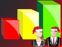 Christmas Business Chart and Avatars Illustration Royalty Free Stock Image