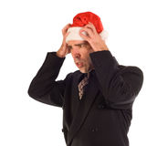 Christmas Business Frustration Stock Photo