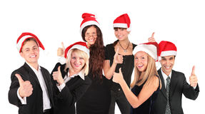 Christmas business people group Royalty Free Stock Images