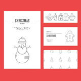 Christmas Business Set Royalty Free Stock Photo