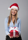 Christmas business woman Royalty Free Stock Images